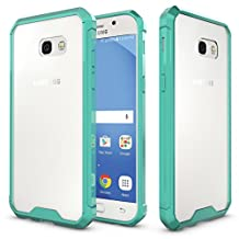 "MOONCASE Galaxy A5 2017 Case, Hybrid Shockproof Slim TPU Bumper with Clear Transparent Hard Back Case Cover for Samsung Galaxy A5 (2017) A520 5.2"" Mint Green"