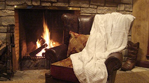 Plush Oversized and Warm Faux Fur and Microfiber Throw Blanket 60