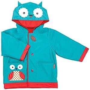 Skip Hop Zoo Little Kid & Toddler Raincoat, Otis Owl, Small