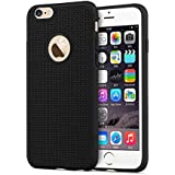 ikazen® Heat Dissipation Hollow Thin Soft TPU Back Case Cover for Apple iPhone 6 6S - Black
