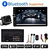 "Double Din Car Radio with Reverse Camera, 7"" Touchscreen Bluetooth Subwoofer Control Support SD/AUX/USB MP5 Player AM/FM Radio In Dash Car Receiver For Sale"