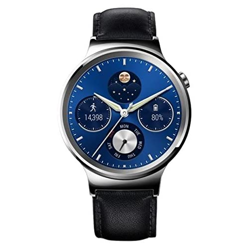 Huawei Watch Classic mit Lederband in silber