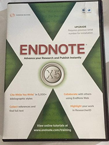 Price comparison product image ISI RESEARCHSOFT UPG ENDNOTE X5 FOR MACINTOSH CROM