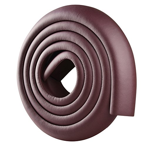 ISOTO Edge and Corner Guards Set Baby Toddler Child 5M/16.5ft L-Type Soft Cushion Strip + 4 Corner Safety Glass Table Home Protector Protection Protictive (Brown, L Shape) by ISOTO (Image #2)