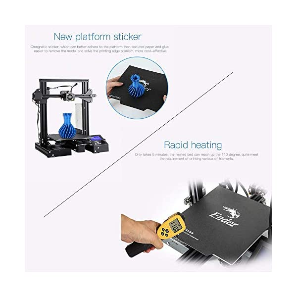 Robocraze Creality 3D Ender-3 Pro 3D Printer DIY Kit MK-10 Extruder with Resume Printing Function Heatbed Support 220 * 220 * 250mm Printing Size for Home & School Use | 3D printer Universal Project