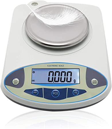 CGOLDENWALL High Precision Lab Digital Precision Analytical Balance Lab Scale 1mg Precision Electronic Balance Jewelry Scales Kitchen Precision Weighing Electronic Scale Calibrated (500g, 0.001g)