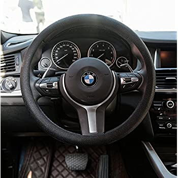 Amazon Com Valleycomfy Microfiber Leather Steering Wheel Covers