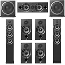Elac Debut 2.0-7.2 System with 2 F6.2 Floorstanding Speakers, 1 C6.2 Center Speaker, 4 B6.2 Bookshelf Speakers 2 Elac Sub3010 Subwoofers