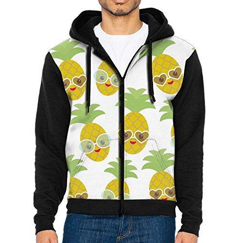 NavyLife Men's Glasses Pineapple Athletic Pocket Hoodie Jackets Full Zip Long Sleeve Cozy Sweatshirt Midweight - Kid Glasses With Cudi