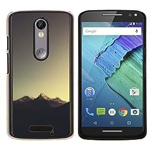 Sugerencia Montaña- Metal de aluminio y de plástico duro Caja del teléfono - Negro - Motorola Droid Turbo 2 / Moto X Force