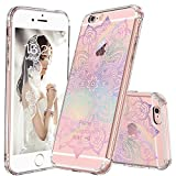 MOSNOVO iPhone 6S Case, iPhone 6 Clear Case, Gradient Rainbow Henna Mandala Printed Clear Design Transparent Plastic Back Case with TPU Bumper Protective Case Cover for Apple iPhone 6 6S (4.7 Inch)