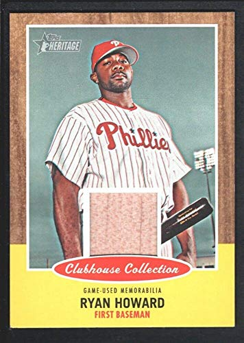 2011 Sp Game Bat - BIGBOYD SPORTS CARDS Ryan Howard 2011 Topps Heritage Clubhouse #CCRRH Game BAT Phillies SP