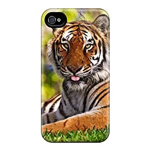 AnnetteL Design High Quality Beautiful Bengal Tiger Cover Case With Excellent Style For Iphone 4/4s