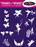 Things with Wings Tattoo Stencil Set for Glitter Tattoos / Kids Tattoos