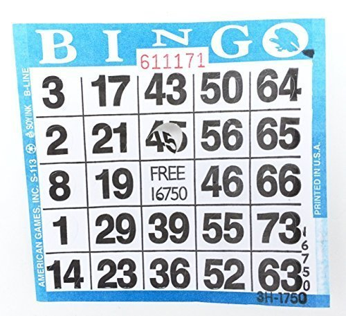 - Punch-out Bingo Cards (250 Per Pack)