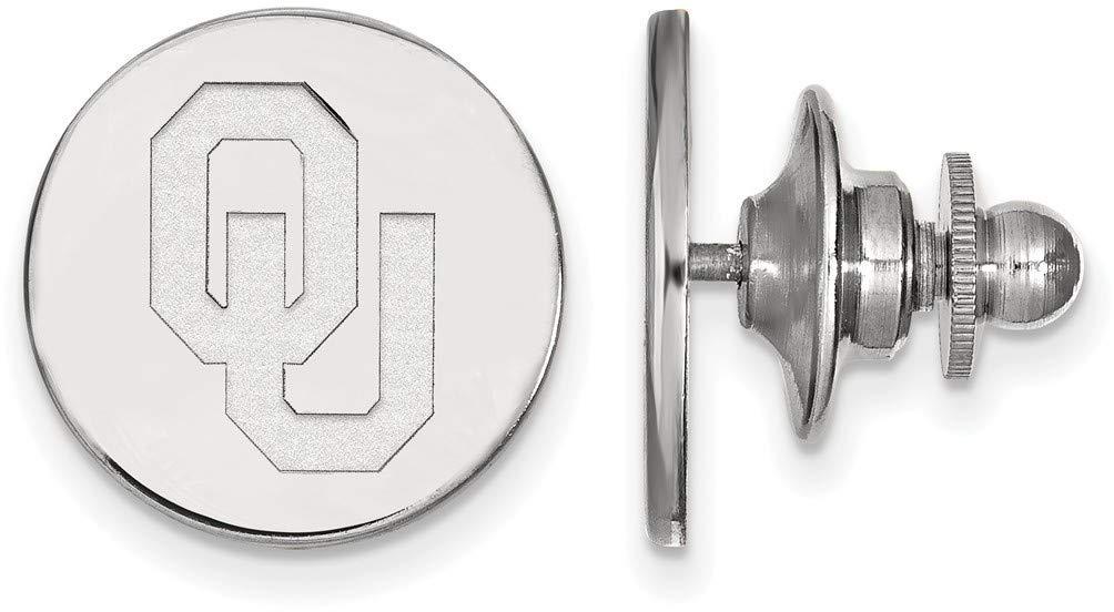 14K White Gold University of Oklahoma Tie Tac by LogoArt