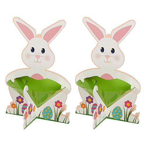Easter Egg Candy Cups - 2 Pack Easter Party Decorations - Egg & Candy Holder Set - Easter Themed Cups with Stand, Great for Easter Party Favors, Table Displays, Holds Chocolate, Candy, Eggs, 8.7 X 12.7 X 8.7 inches