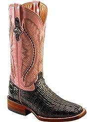 Ferrini Ladies Hornback Caiman Croc Sq Toe