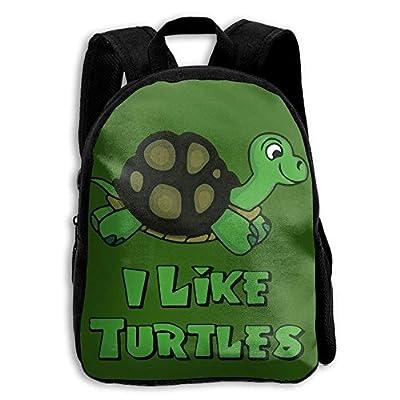 Kids Backpack I Like Turtles Casual Children Backpacks School Bag Daypack Gift