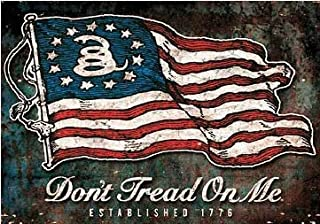 product image for Keen Don't Tread On Me 1776 Flag Vinyl Decal Sticker|Cars Trucks Vans Walls Laptops|Full Color|3.75 X 5 in|KCD740