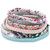 Parker Baby Girl Braided Headbands, Assorted 10 Pack of Hair Accessories for Girls -'Wildflower Set'