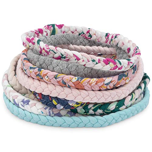 Parker Baby Girl Braided Headbands, Assorted 10 Pack of Hair Accessories for Girls -