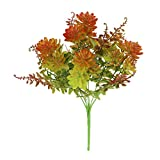 Greatflower Pack of 2 Coffe Plastic Artificial Flowers Bushes for Garden or Chirstmas Decoration