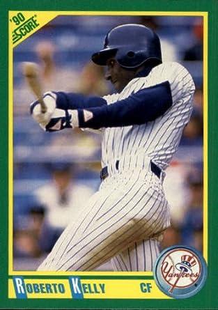 Amazoncom 1990 Score Baseball Card 100 Roberto Kelly Mint