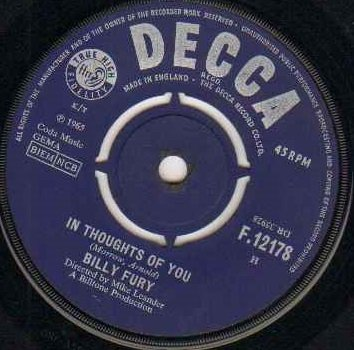 Billy Fury - In Thoughts of You - Zortam Music