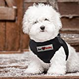Dog Harness with a choke-free style. 100% Satisfaction Guarantee (SI Black, Large)