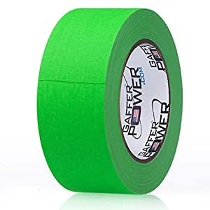 REAL Professional Grade Gaffer Tape by Gaffer Power - Made in the USA _ GREEN FLUORESCENT 2 In X 30 Yds - Heavy Duty Gaffers Tape - Non-Reflective -Multipurpose - Better than Duct Tape