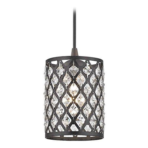 Bronze Classic Crystal (Crystal Bronze & Phoenix Cord Hung Mini-Pendant Light)