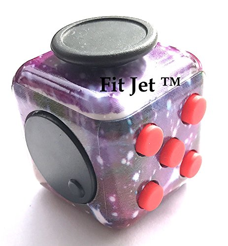 Price comparison product image Fidget toys Cube for Fidgeters! Relieve Stress, Anxiety, and Boredom all at your finger tips (Purple Party)