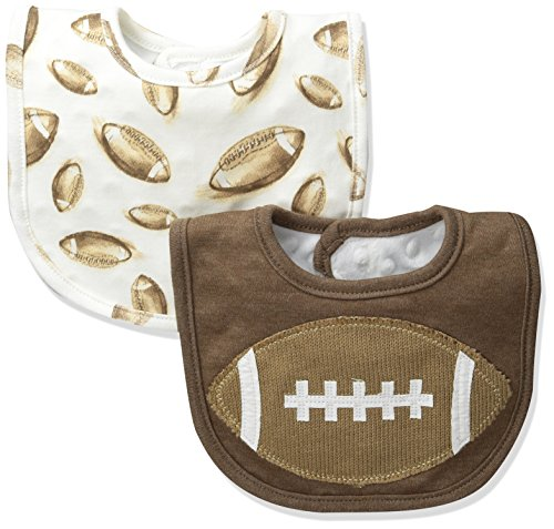 mud-pie-baby-game-day-football-bib-set-brown-one-size