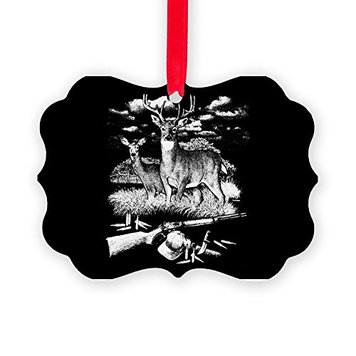 Picture Ornament Deer Hunting Buck Doe Rifle and ()