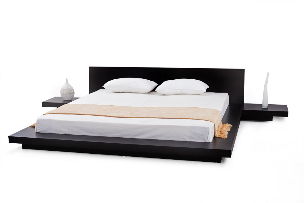 Amazon Com Matisse Fujian Modern Platform Bed 2 Night Stands Queen Espresso Kitchen Dining