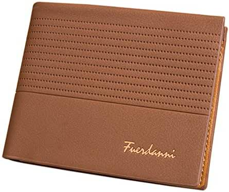 Badiya Men's PU Leather Flipout ID Wallet Bifold Hybrid RFID Blocking