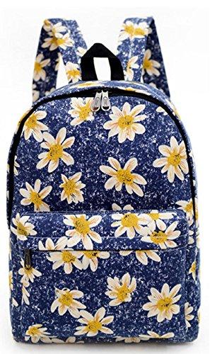 Veenajo Lightweight Canvas Backpack Cute Pattern School Shoulder
