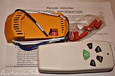 Universal Ceiling Fan Remote Control kit for Halogen and regular light bulb