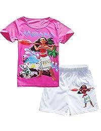 ADCFZ Children Summer Moana Cotton T-Shirt Set