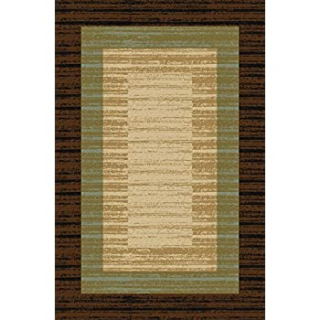 Amazon Com Doormat 18x30 Brown Border Stripe Kitchen Rugs