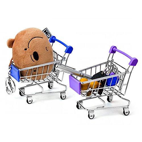 Mini Supermarket Handcart, Shopping Cart Shopping Utility Cart Mode Desk Storage Toy Holder Desk Accessory, Color Random