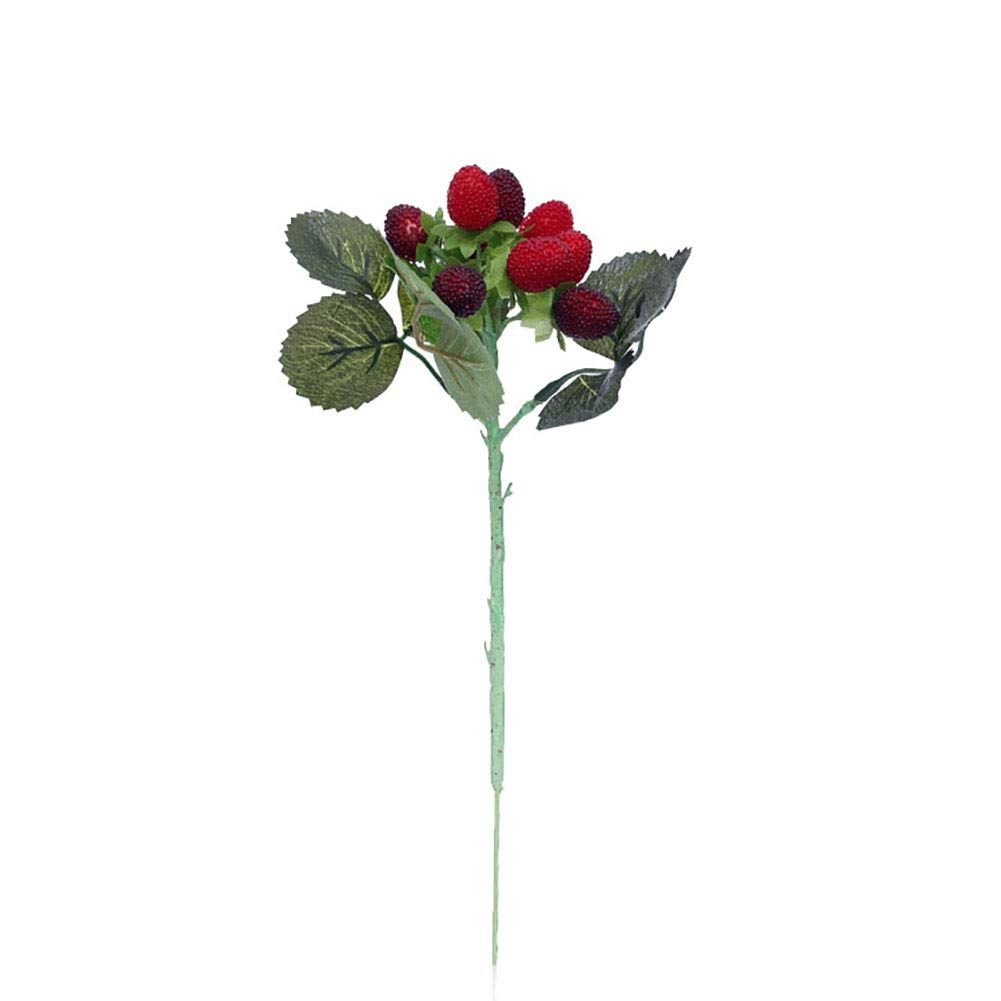 AkoMatial 1Pc Artificial Fruit Simulation Strawberry Berry Plants Props Decoration for Home Hotel Cafe