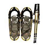 New Style DePaw Man Woman Kid Snowshoes with Pole Free Bag (23inch)