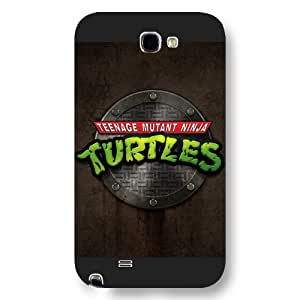 UniqueBox Customized Black Frosted Samsung Galaxy Note 2 Case, Teenage Mutant Ninja Turtles(TMNT) Samsung Note 2 case