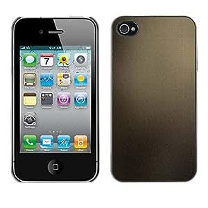 EJOY---Cubierta de la caja de protección la piel dura para el / iPhone 4 / 4S / --Marrón Azulejos