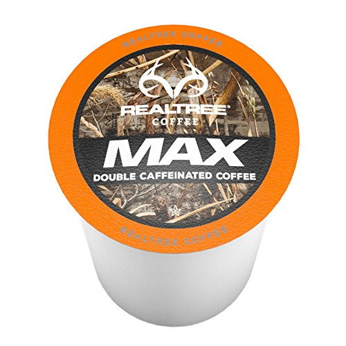 Caffeinated Coffee (Realtree MAX Single-Cup Coffee for Keurig K-Cup Brewers 40 Count)
