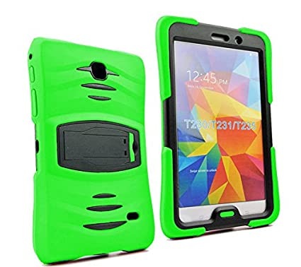 separation shoes 06b82 c6ab4 Galaxy Tab 4 7.0 Armor Case, Heavy Duty Full-Body Shock Proof Cover  Kickstand Screen Protector for Galaxy Tab 4 7-inch SM-T230 (Green)