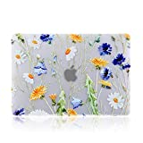 iDonzon MacBook Pro 13 inch Case (2016-2019 Release) A1989 A1706 A1708, 3D Effect Matte See Through Hard Case Cover Compatible Newest Pro 13.3 inch with/Without Touch Bar and Touch ID - Floral