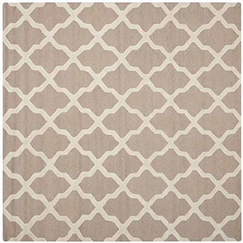 Safavieh Cambridge Collection CAM121J Handcrafted Moroccan Geometric Beige and Ivory Premium Wool Square Area Rug (4